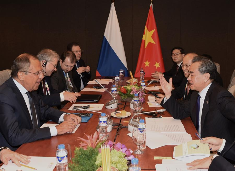 PHILIPPINES-MANILA-CHINA-RUSSIA-FM-MEETING
