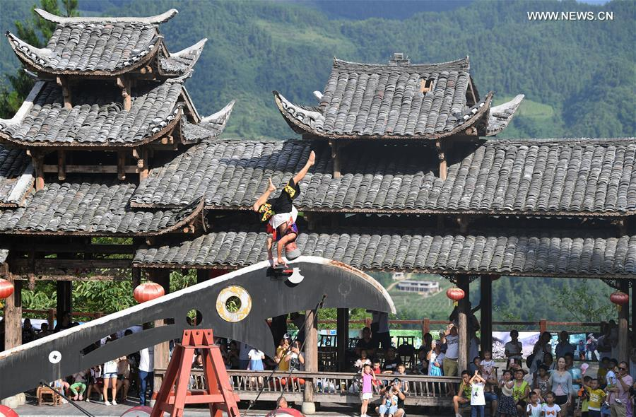 CHINA-CHONGQING-TIANKENG VILLAGE-FOLK CULTURE (CN)