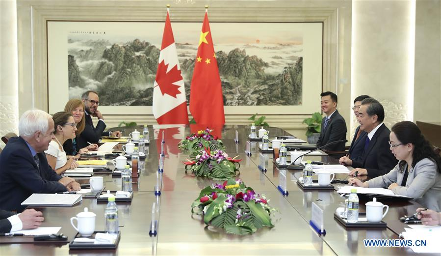 CHINA-BEIJING-WANG YI-CANADA-MEETING(CN)
