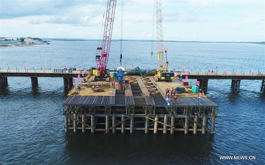CHINA-RUSSIA-HEILONGJIANG BRIDGE-CONSTRUCTION (CN)