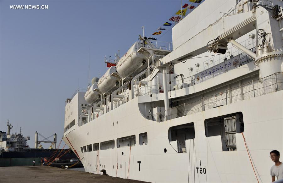 DJIBOUTI-CHINESE NAVAL HOSPITAL SHIP-MEDICAL SERVICE