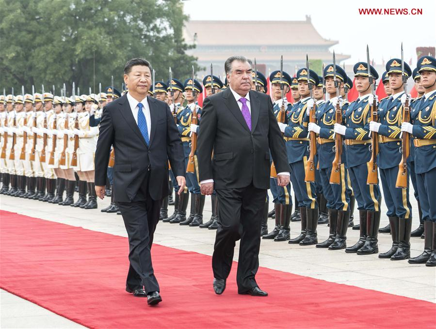 CHINA-BEIJING-XI JINPING-TAJIK PRESIDENT-WELCOME CEREMONY (CN)