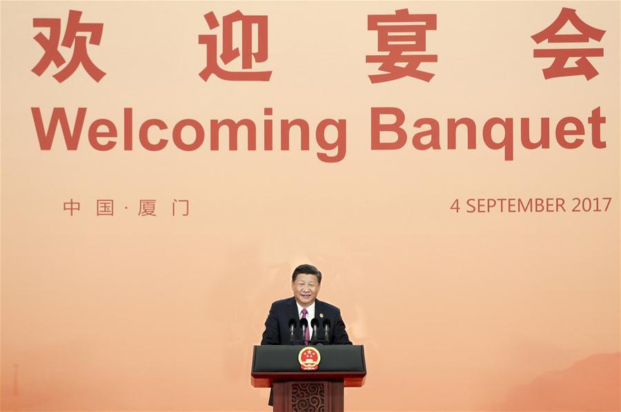 (XIAMEN SUMMIT)CHINA-XIAMEN-XI JINPING-BANQUET (CN)