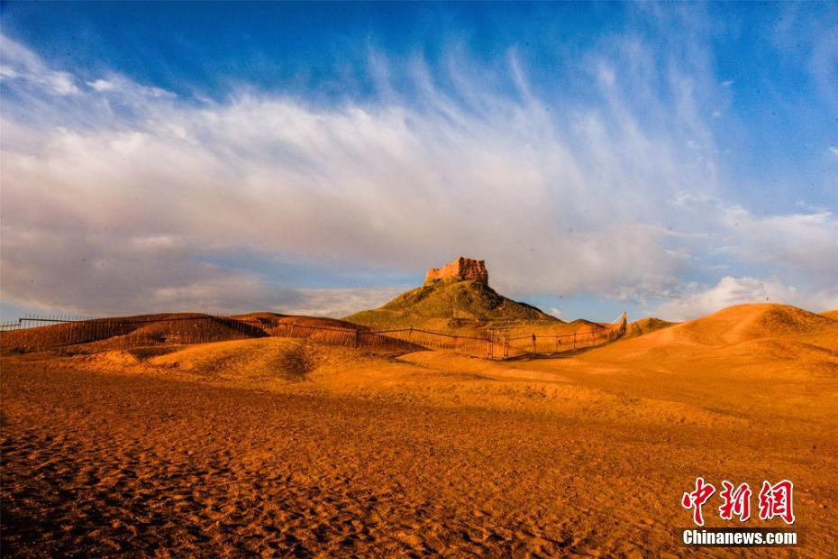 Amazing autumn scenery of Dunhuang, China's Gansu Province