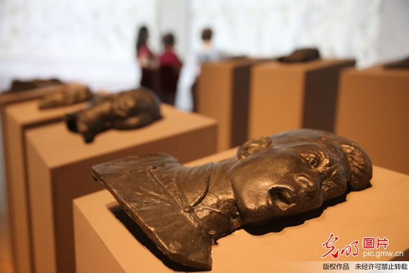 Sculpture art exhibition held at National Art Museum of China