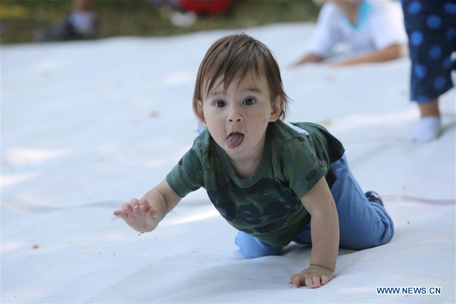 ROMANIA-BUCHAREST-BABY CRAWLING COMPETITION