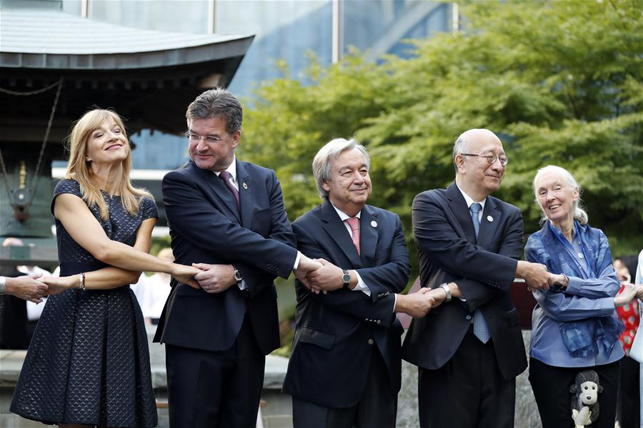 UN-WORLD PEACE DAY-PEACE BELL CEREMONY