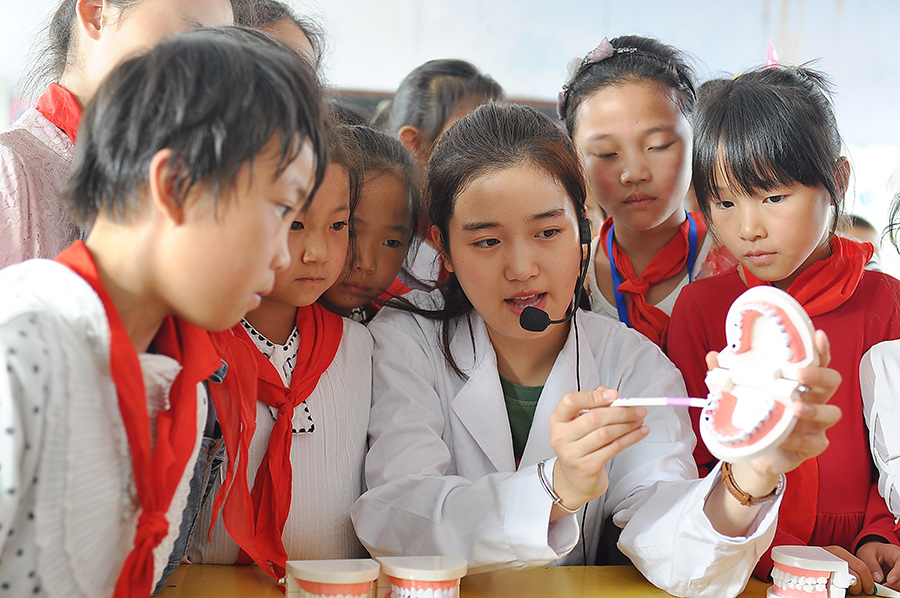 Students learn about oral hygiene ahead of national day for dental care