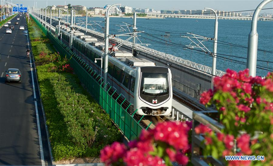 Sea-view subway complets test operation in Xiamen
