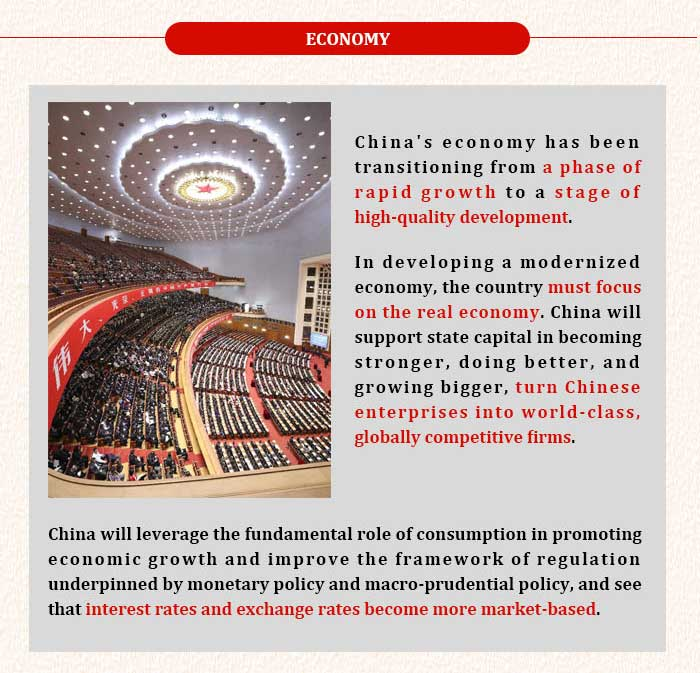 Highlights of Xi's report to 19th CPC National Congress: Economy