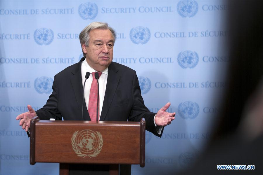 UN-SECRETARY-GENERAL-CLIMATE CHANGE-PRESS ENCOUNTER
