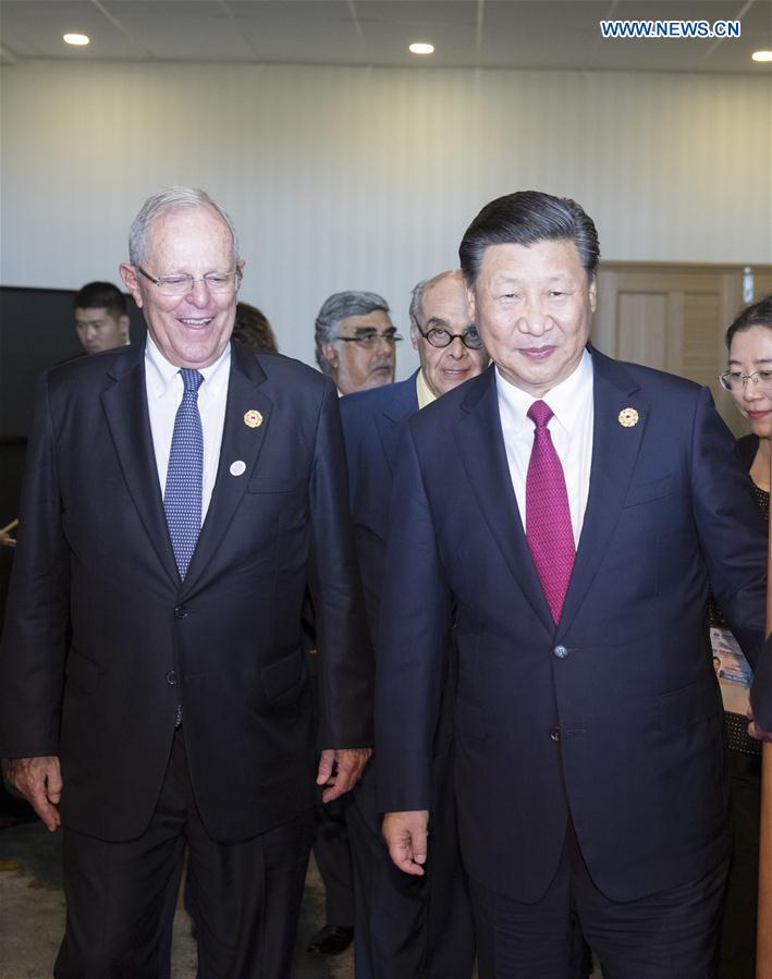 VIETNAM-DA NANG-CHINA-XI JINPING-PERUVIAN PRESIDENT-MEETING
