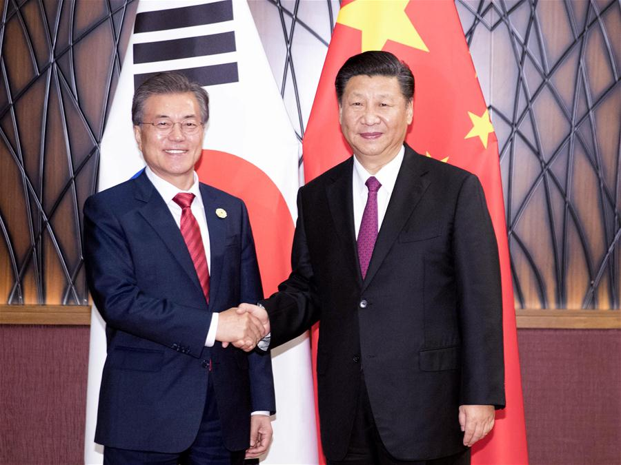 VIETNAM-CHINA-SOUTH KOREA-XI JINPING-MOON JAE-IN-MEETING
