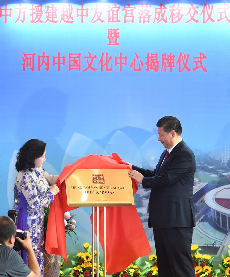 VIETNAM-HANOI-CHINA-XI JINPING-FRIENDSHIP PALACE-CEREMONY