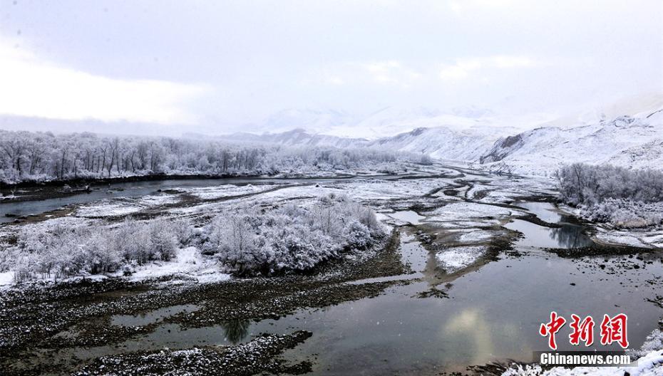 Rime scenery seen in NW China's Xinjiang