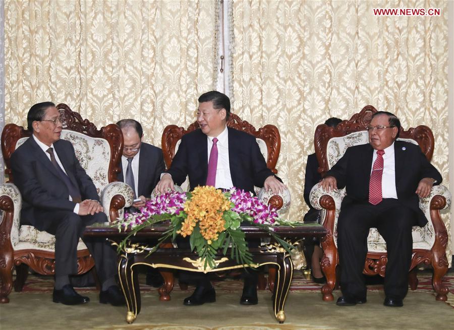 LAOS-CHINA-XI JINPING-FORMER LAO PRESIDENT-MEET