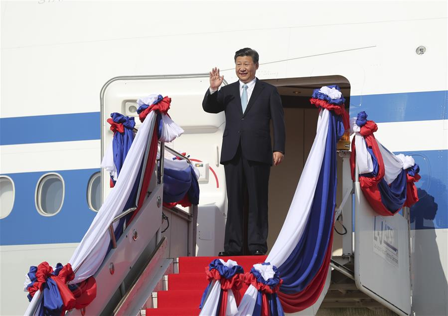 LAOS-CHINA-XI JINPING-ARRIVAL