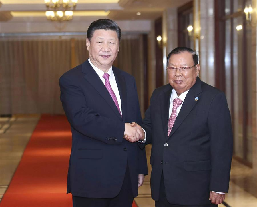 LAOS-CHINA-XI JINPING-BOUNNHANG VORACHIT-MEETING