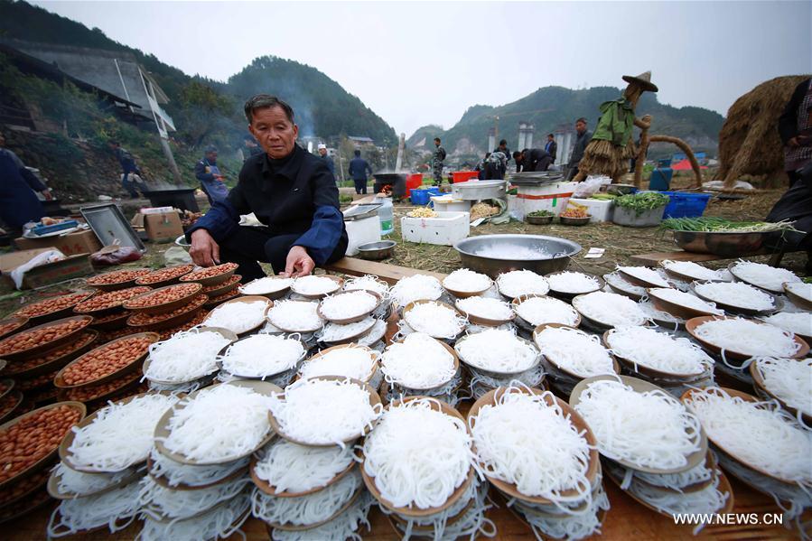 #CHINA-GUIZHOU-QIANDONGNAN-MIAO ETHNIC GROUP-BANQUET (CN)