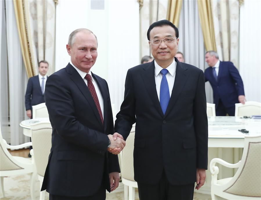 RUSSIA-CHINA-LI KEQIANG-PUTIN-MEETING