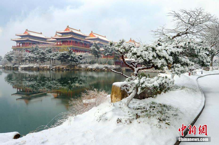Picturesque scenery of snow-covered Penglai in E China's Shandong Province