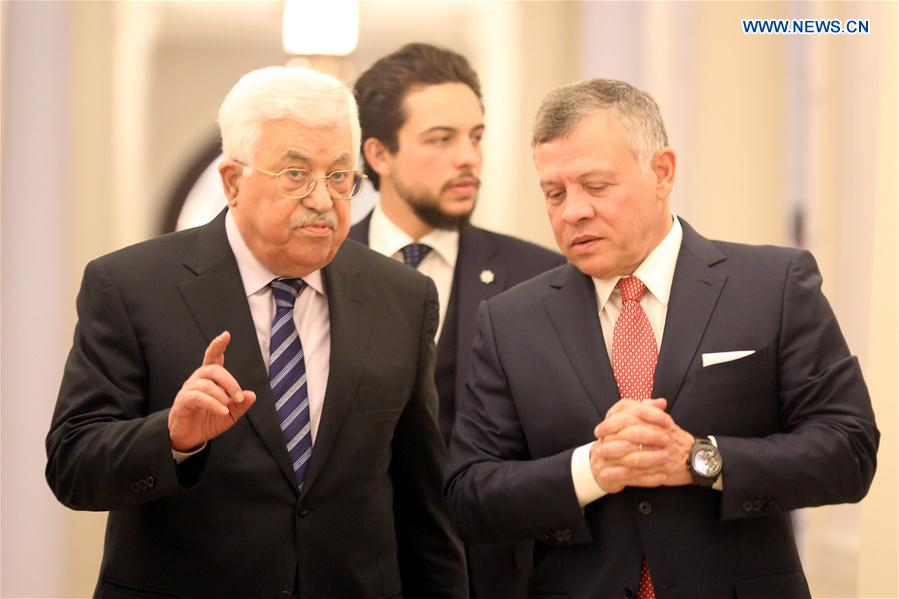 JORDAN-AMMAN-KING-PALESTINE-PRESIDENT-MEETING