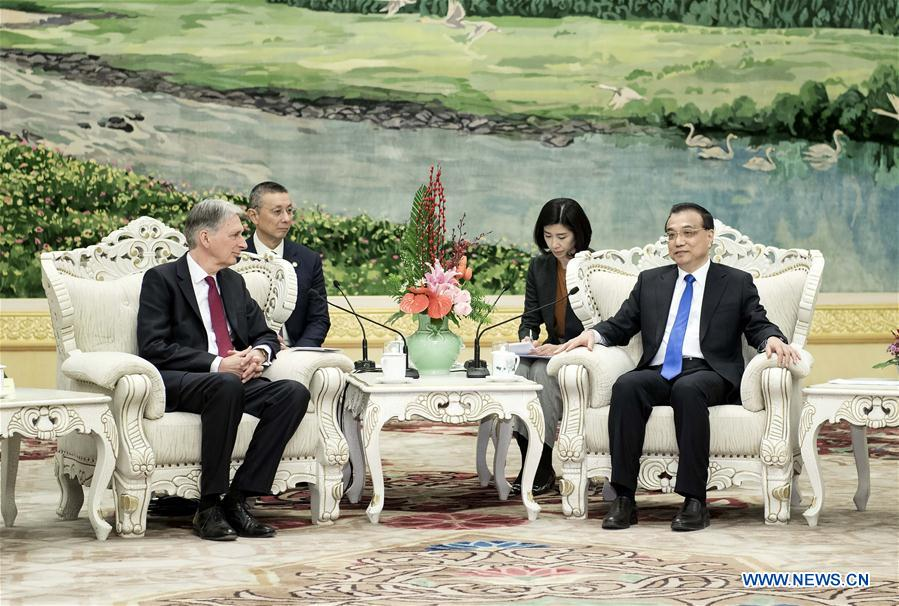 CHINA-BEIJING-LI KEQIANG-PHILIP HAMMOND-MEETING(CN)