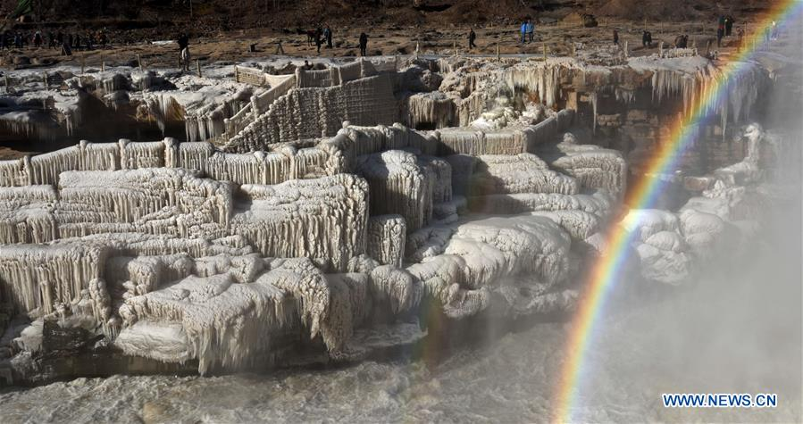 #CHINA-SHANXI-HUKOU WATERFALL-RAINBOW(CN)