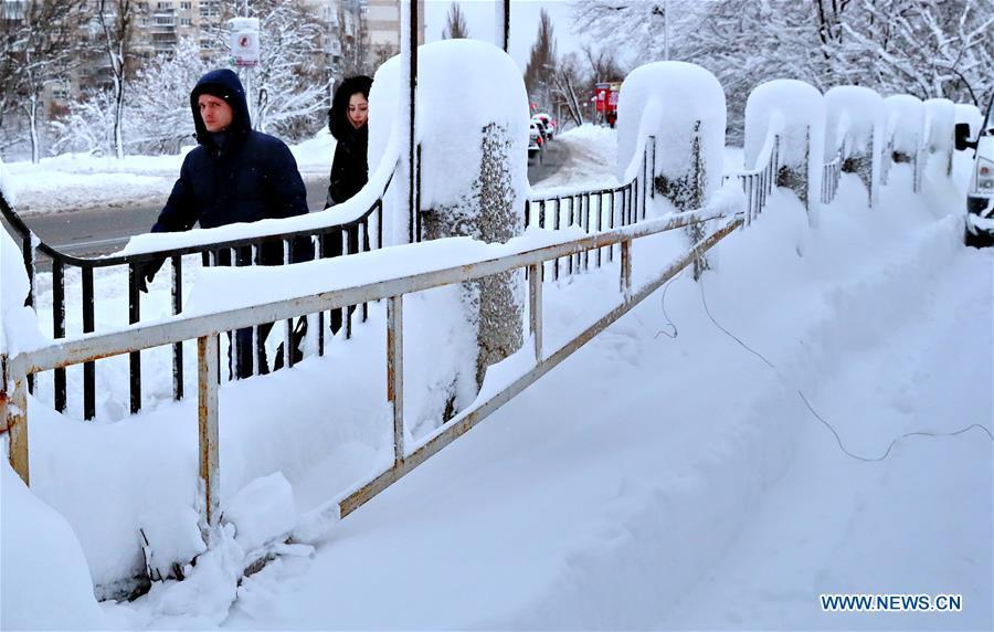 UKRAINE-KIEV-SNOW