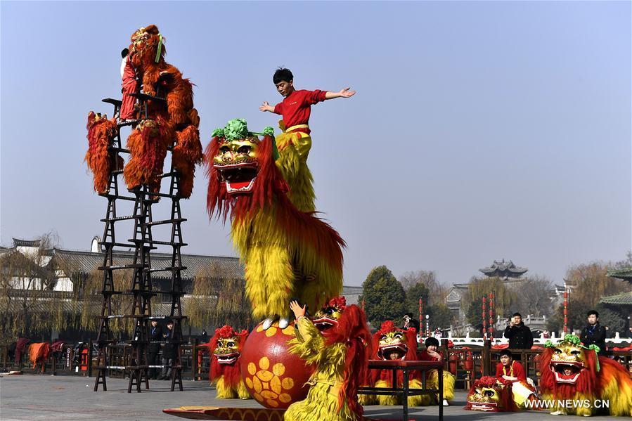 CHINA-SHANDONG-LION DANCE (CN)