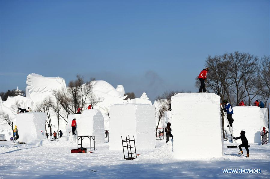 CHINA-HARBIN-SNOW SCULPTURE-COMPETITION (CN)