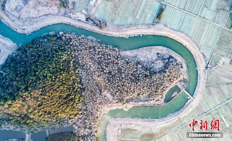 Aerial view of Fairy Lake in E China's Jiangxi Province