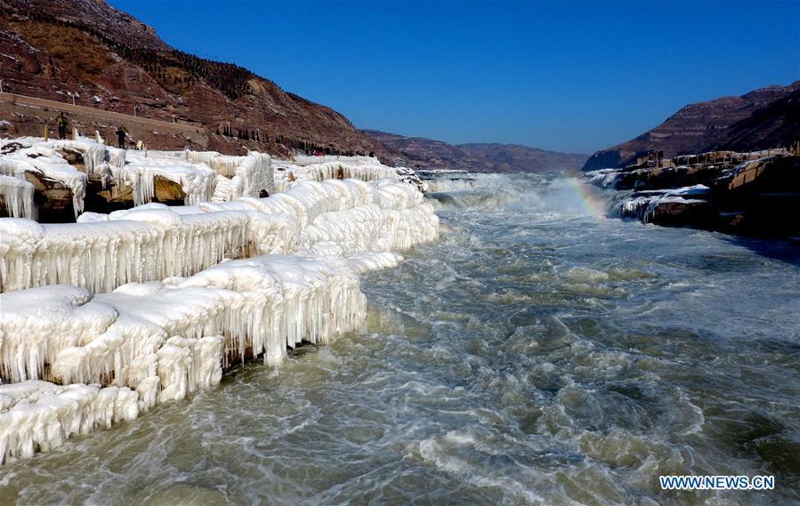 #CHINA-YELLOW RIVER-HUKOU WATERFALL-WINTER SCENERY (CN)