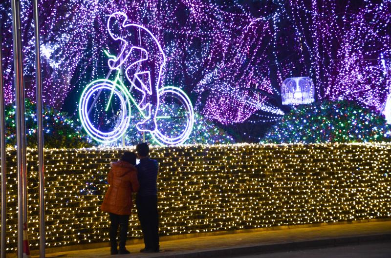 Lantern fairs held to greet Spring Festival in Shandong