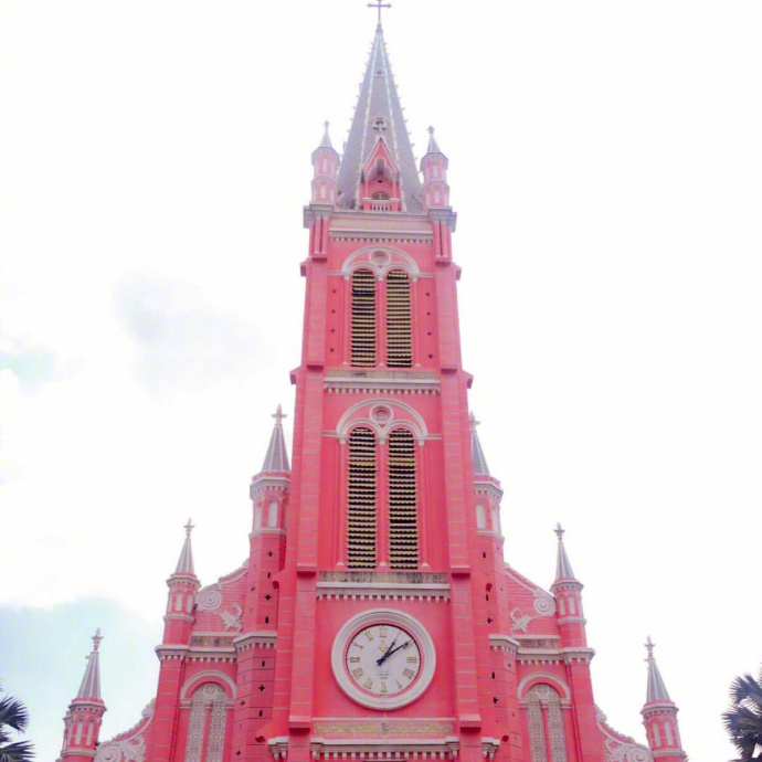So beautiful pink church! Tan Dinh Church in Vietnam