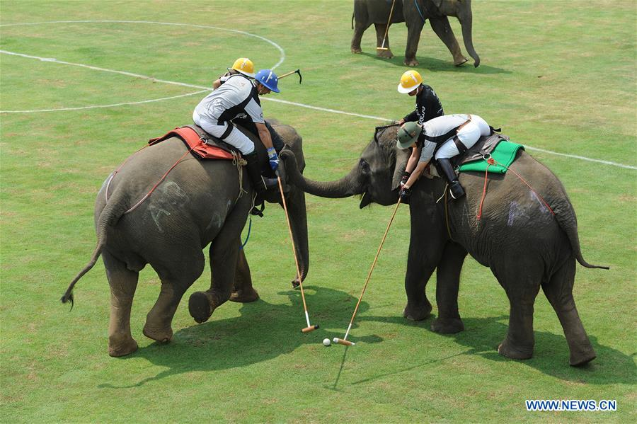 THAILAND-BANGKOK-ELEPHANT POLO