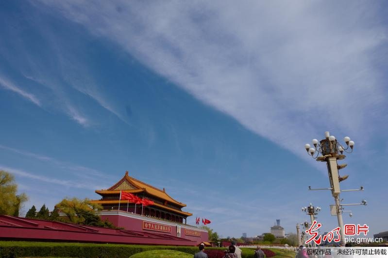 Spring scenery in Beijing, capital of China