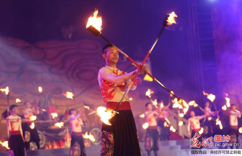 Torch Festival held in Chuxiong, China's Yunnan
