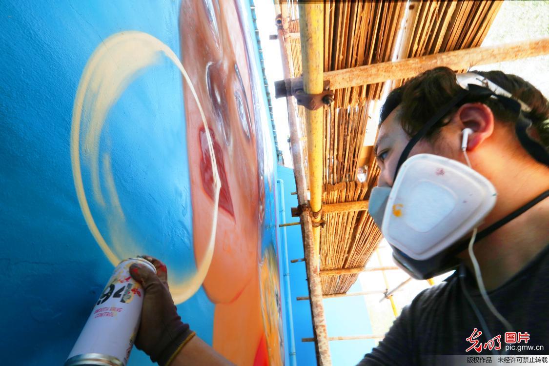 Graffiti contest held in Luonan county