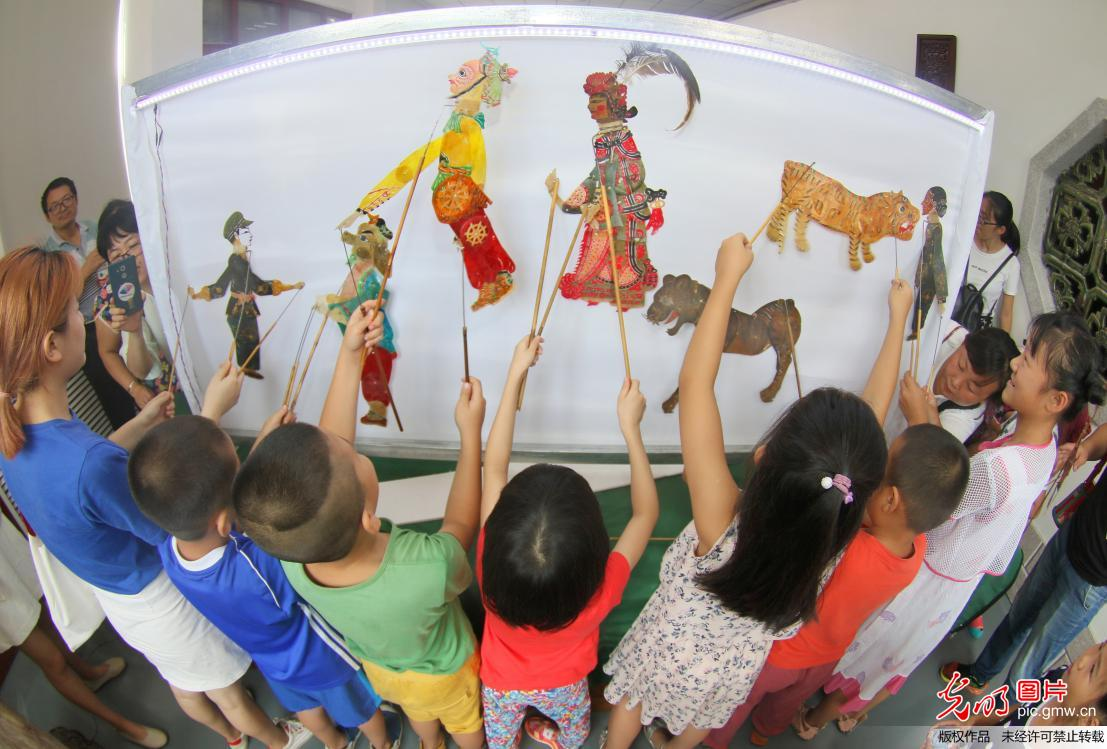 Art exhibition of Shadow puppetry held in China's Yantai