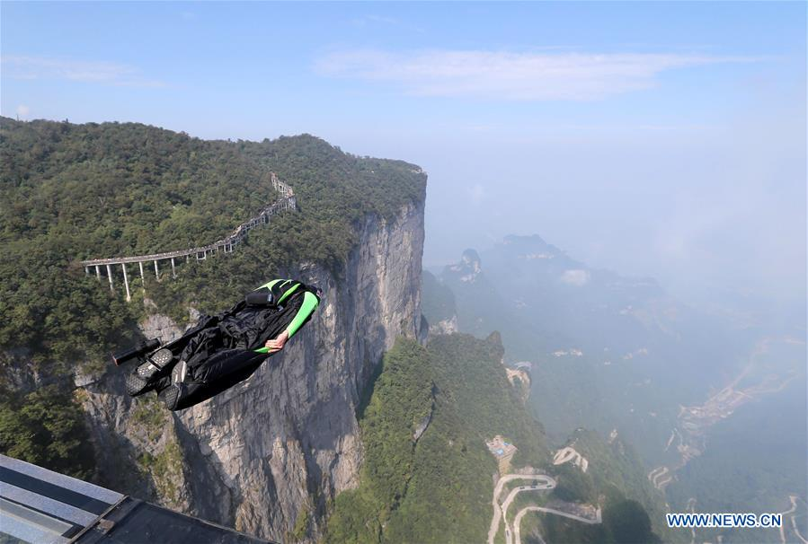 #CHINA-HUNAN-ZHANGJIAJIE-WINGSUIT FLYING (CN)