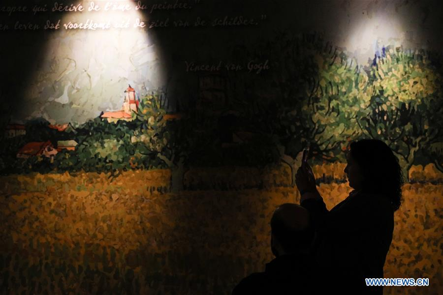 BELGIUM-BRUSSELS-VAN GOGH-IMMERSIVE EXHIBITION