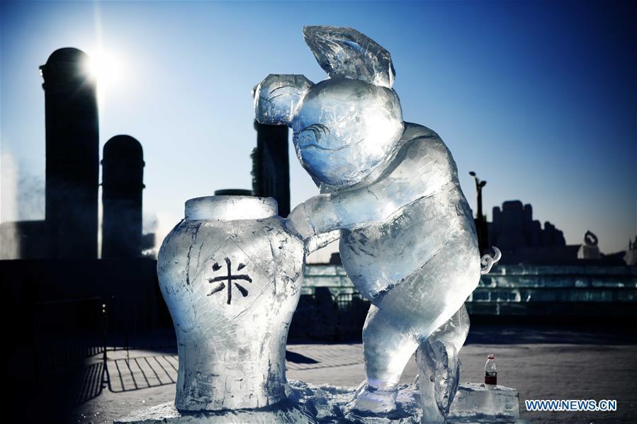 CHINA-HARBIN-ICE SCULPTURE (CN)