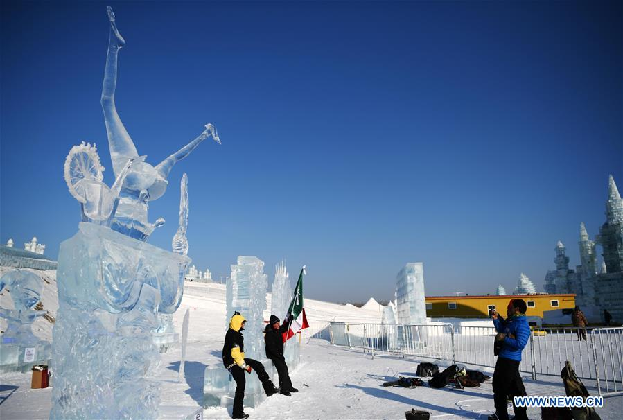CHINA-HARBIN-ICE SCULPTURE (CN)