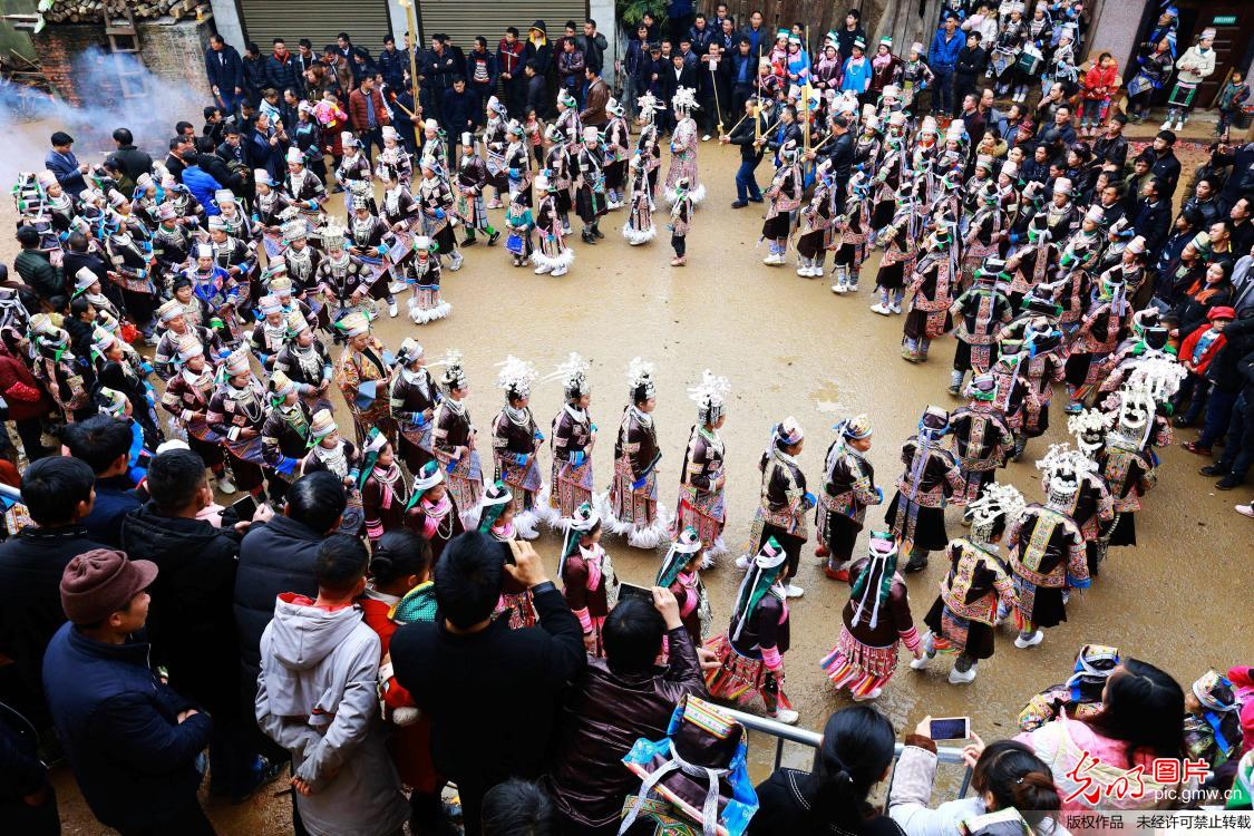 Events held for celebrating traditional festival of Miao ethnic group