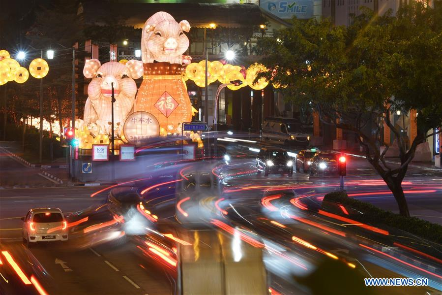 SINGAPORE-CHINATOWN-LUNAR NEW YEAR-LIGHT