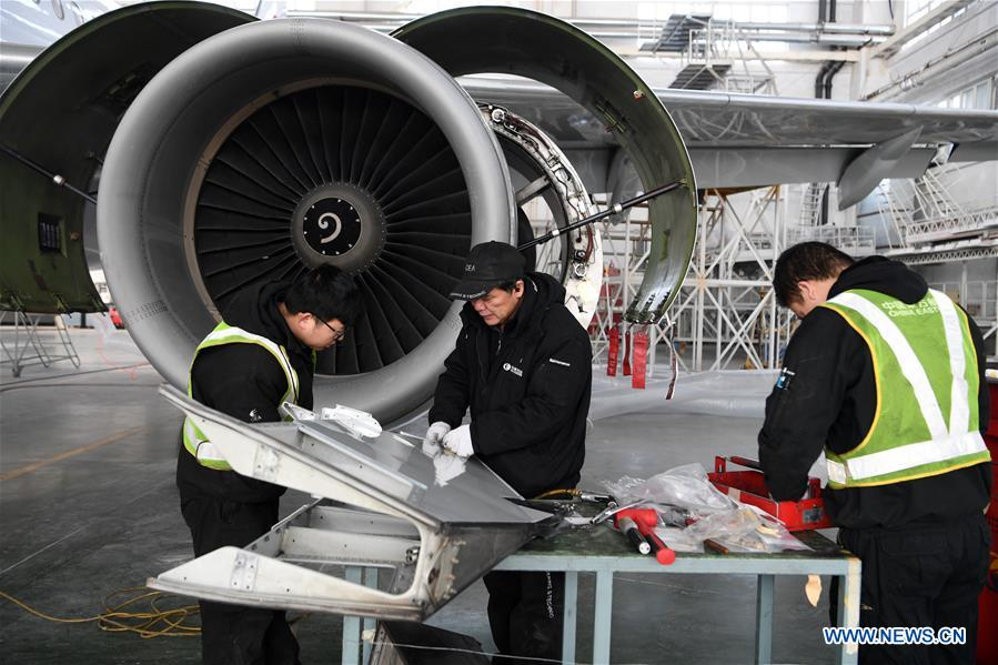CHINA-GANSU-LANZHOU-AIRPLANE-MAINTENANCE (CN)