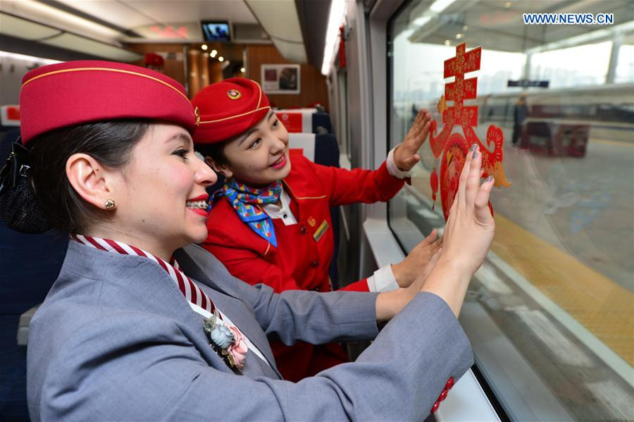 #CHINA-XI'AN-SPRING FESTIVAL-FOREIGN VOLUNTEERS (CN)