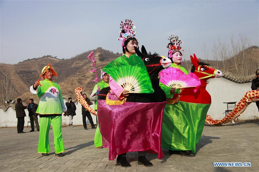 CHINA-HEBEI-LUNAR NEW YEAR-REHEARSAL (CN)
