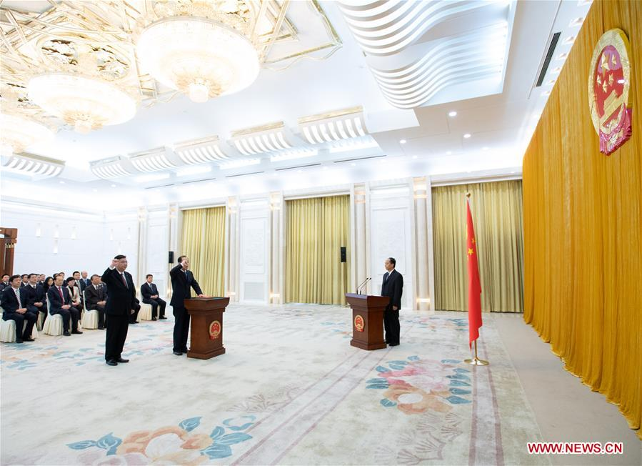 CHINA-BEIJING-NPC-OATH-TAKING CEREMONY (CN)
